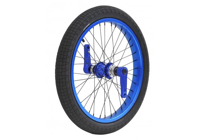 Roue avant Dynasty Anodisé Bleu, freinage disque, cerclage large